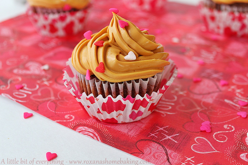 A simple recipe for irresistible fluffy chocolate cupcakes topped with dulce de leche frosting