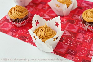 Chocolate Cupcakes with Dulce de Leche Frosting