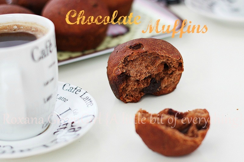 Chocolate (yeast) muffins