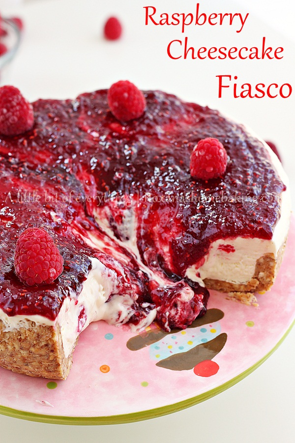 no bake raspberry cheesecake | roxanashomebaking.com
