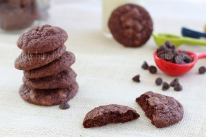 Triple chocolate brownie cookies recipe