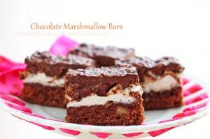 Chocolate Marshmallow Bars | roxanashomebaking.com