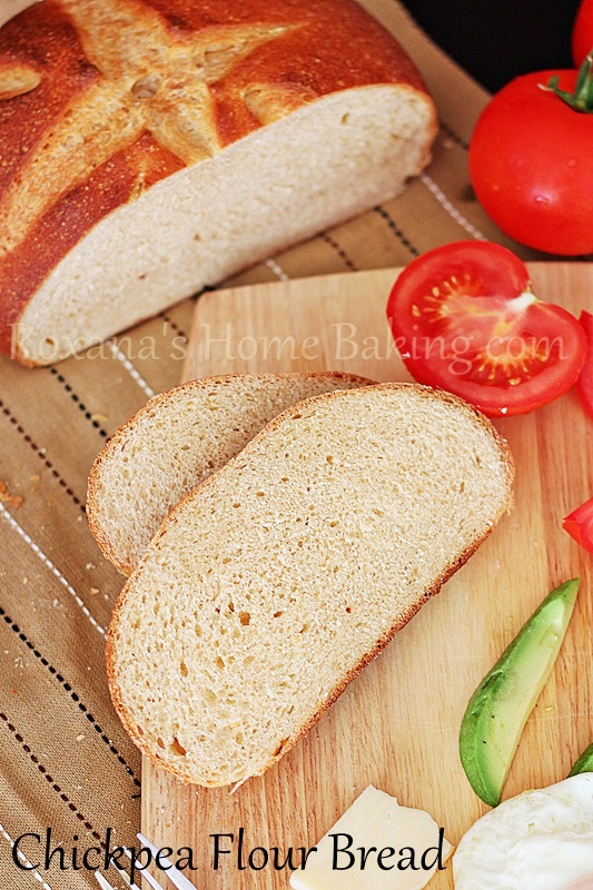 Chickpea flour bread from Roxanashomebaking.com - A soft crusted bread with a nice crumb given by the evaporated milk and a chewy bite from the chickpea flour, flavored with a hint of cinnamon
