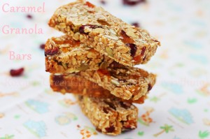 Homemade healthy granola snack bars
