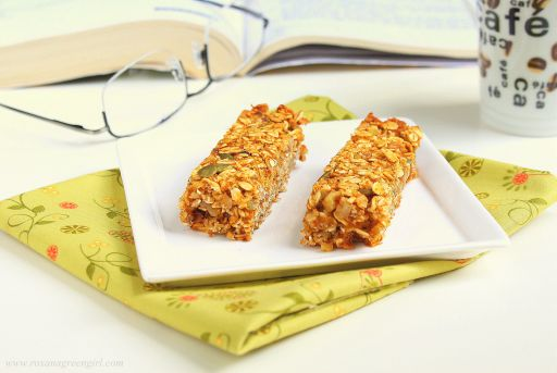 Pumpkin Granola Bars (dairy free, egg free, gluten free)