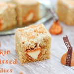 Pumpkin spice Hershey's kisses blondies