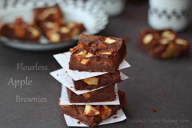 Flourless Apple Brownies - Roxana's Home Baking