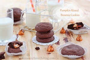 pumpkin kissed brownie cookies roxanashomebaking 1