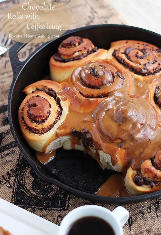 Chocolate-Rolls-with-Coffee-Icing-Roxanashomebaking