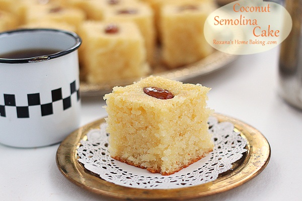 Semolina Coconut Cake
