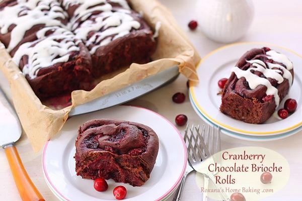 Cranberry Chocolate Brioche Rolls