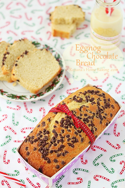 Eggnog chocolate bread | roxanashomebaking,.com