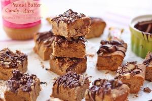 Peanut Butter Candy Bars Roxanashomebaking 4