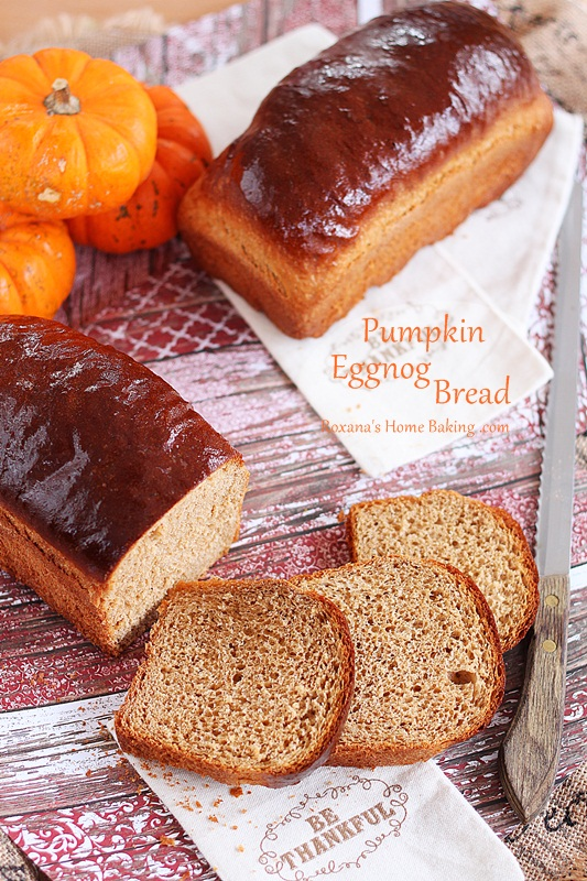 Pumpkin eggnog bread from Roxanashomebaking.com