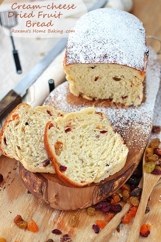 Cream cheese dried fruit bread recipe roxanashomebaking 3
