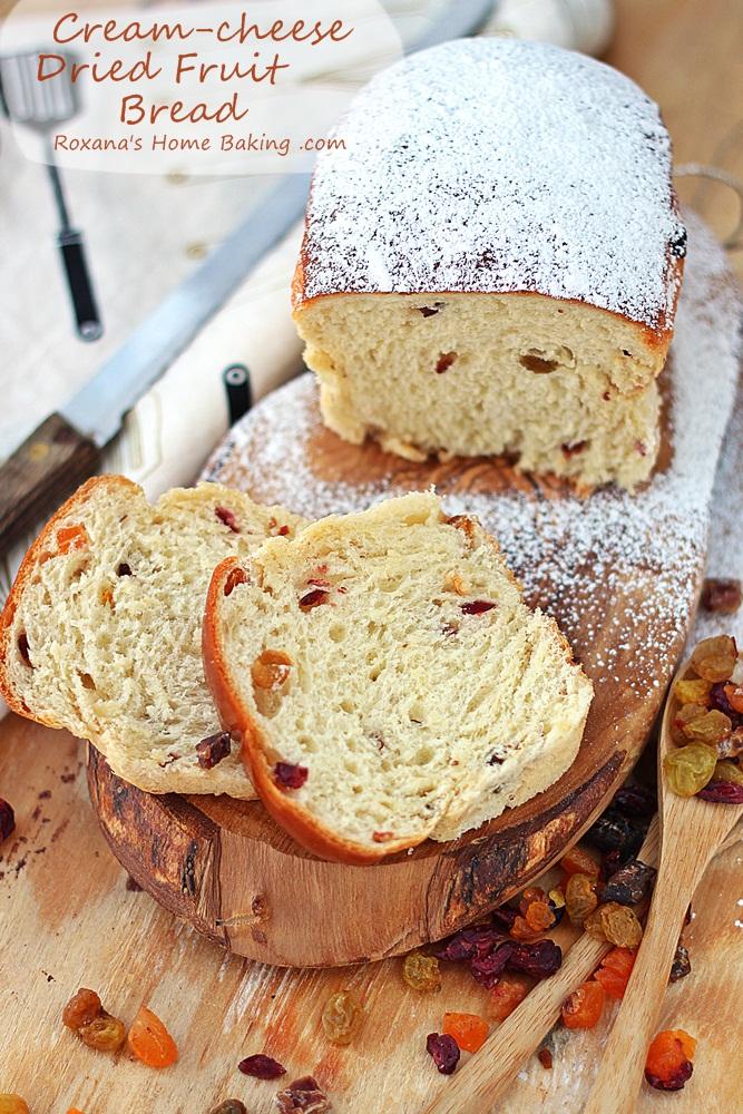 Cream cheese dried fruit bread recipe roxanashomebaking 3