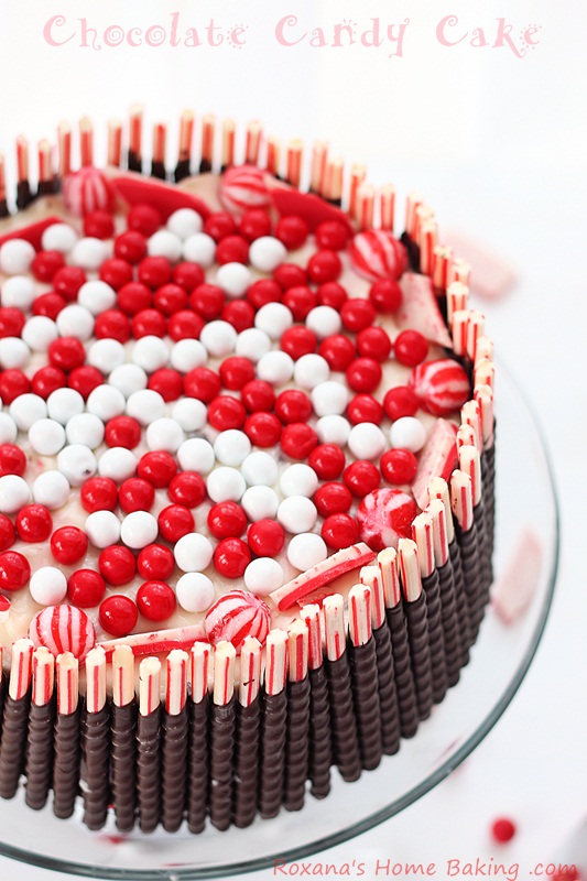 Chocolate Cake With Peppermint Cream Cheese Frosting