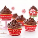 Eggnog cupcakes with chocolate cream cheese frosting #25recipestoXmas