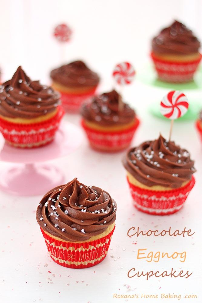 eggnog cupcakes with chocolate cream-cheese frosting recipe roxanashomebaking 2