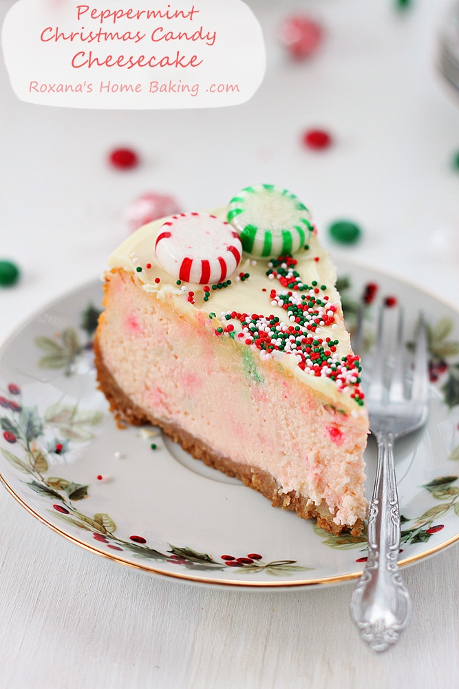 peppermint christmas candy cheesecake recipe roxanashomebaking 3