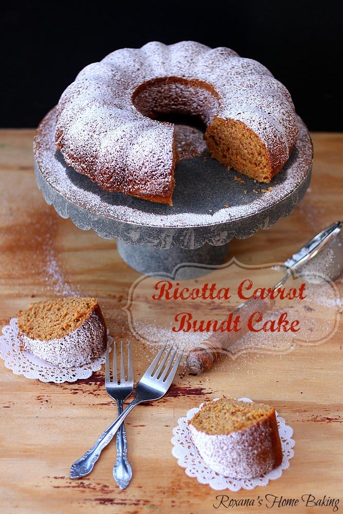 Eggless ricotta carrot cake from Roxanashomebaking.com