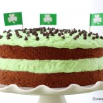 Chocolate cake with mint buttercream