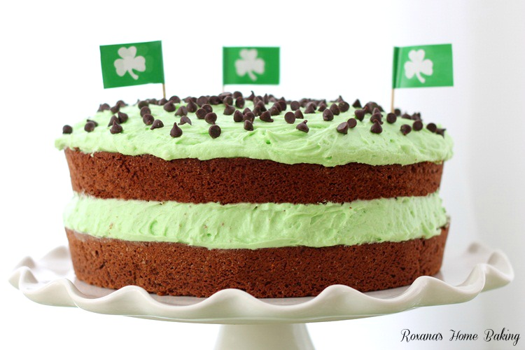 Chocolate cake with mint buttercream recipe