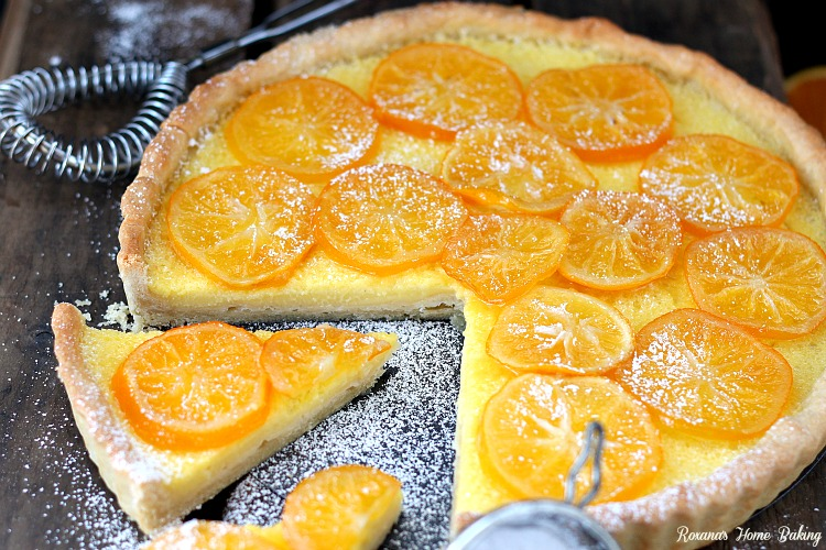 Meyer Lemon Tart. Sweet and tart, this custard like tart will leave ...