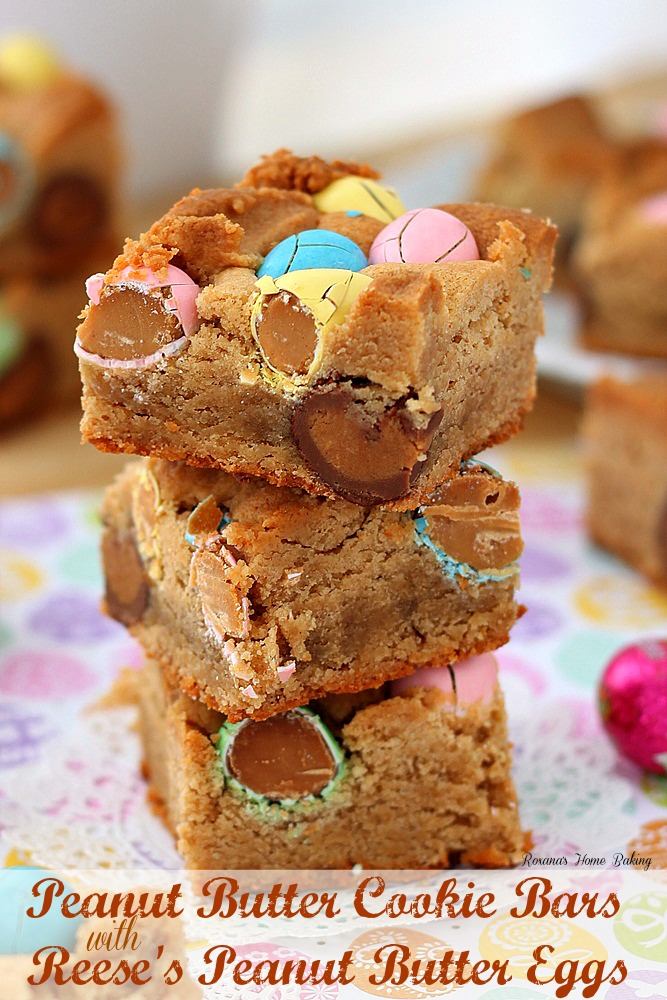 ... Peanut butter cookie bars with Reese's peanut butter eggs you may