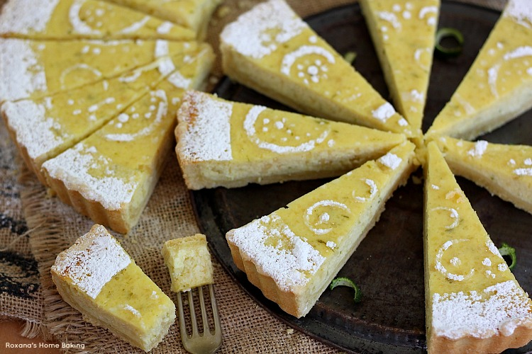 Ricotta lime tart recipe