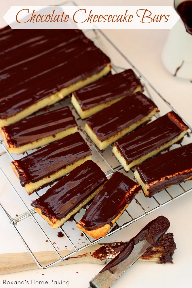 Rich, decadent, creamy dreamy triple chocolate cheesecake bars!