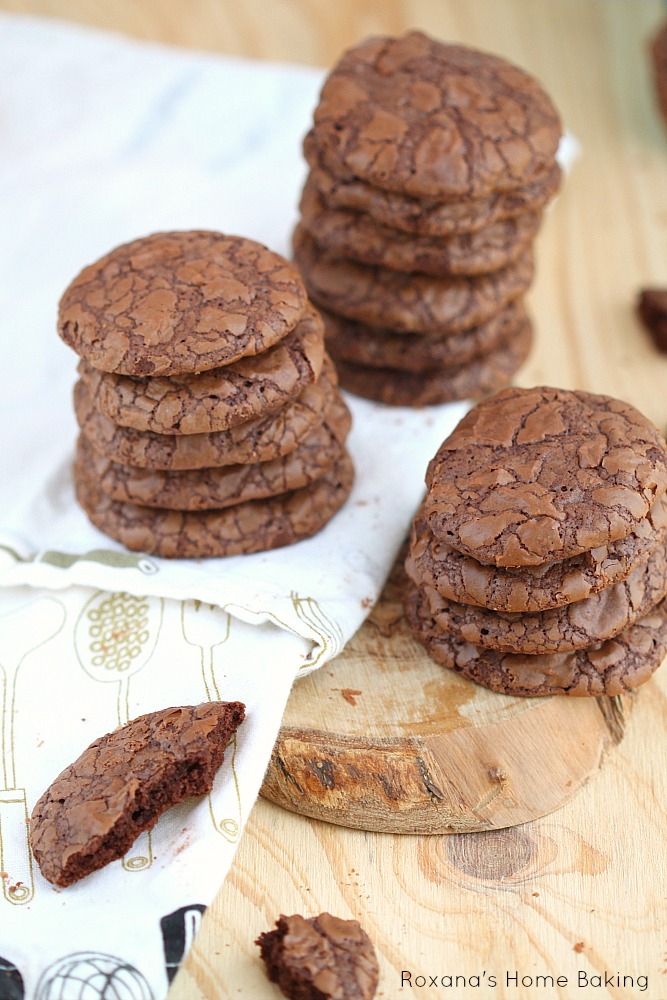 Fudge like cookie, these chocolate truffle cookies have triple the pleasure.