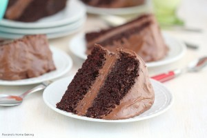 Chocolate cake with chocolate buttercream frosting recipe 2