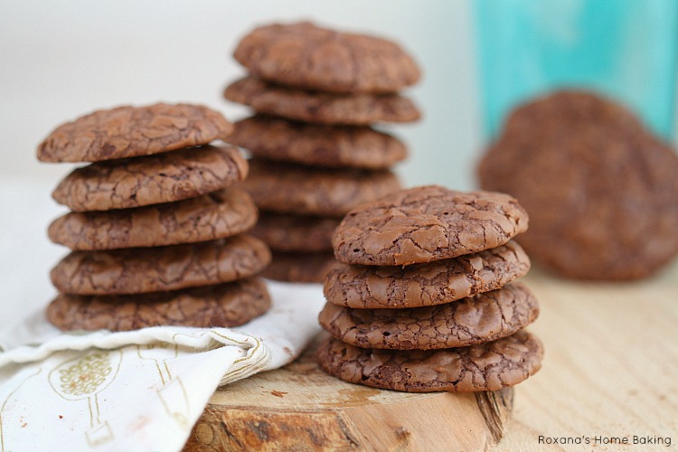 Fudge like cookie, these chocolate truffle cookies have triple the pleasure