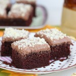 Frosted chocolate buttermilk sheet cake