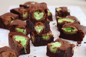 Cadbury screme eggs brownies