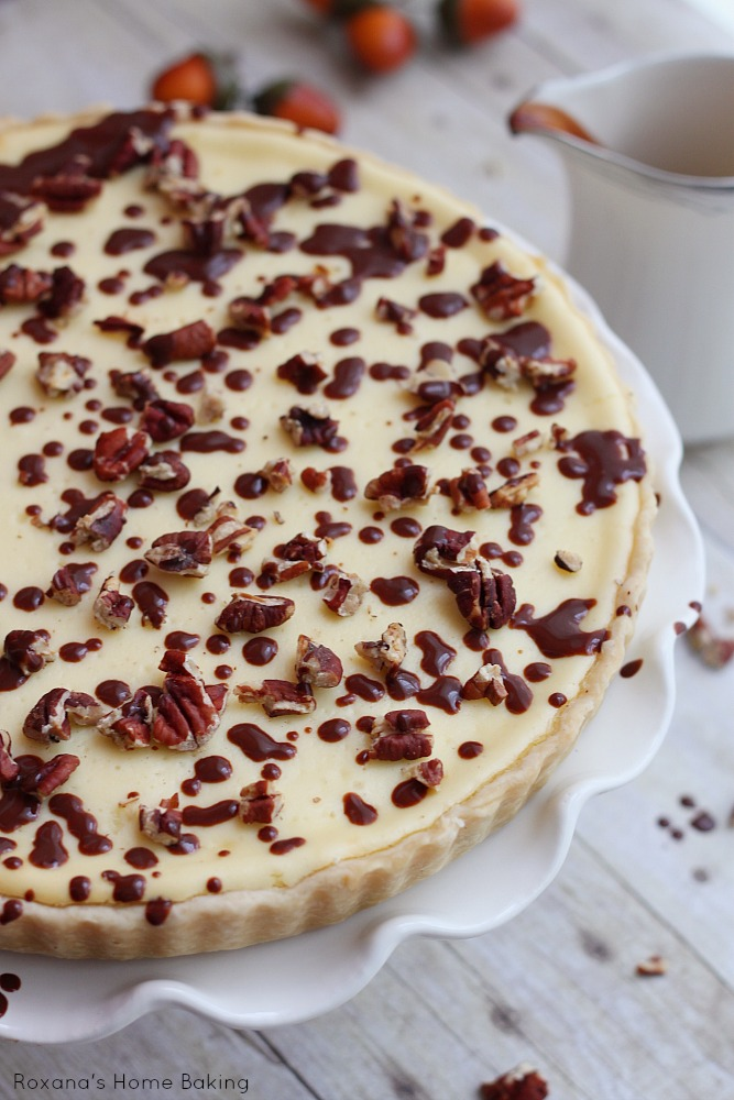 Chocolate pecan cheesecake recipe from Roxanashomebaking.com