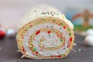 Christmas vanilla cake rolls recipe