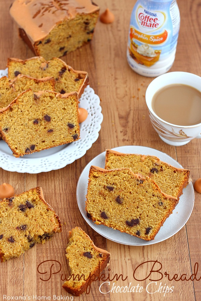 Chocolate chips pumpkin quick bread