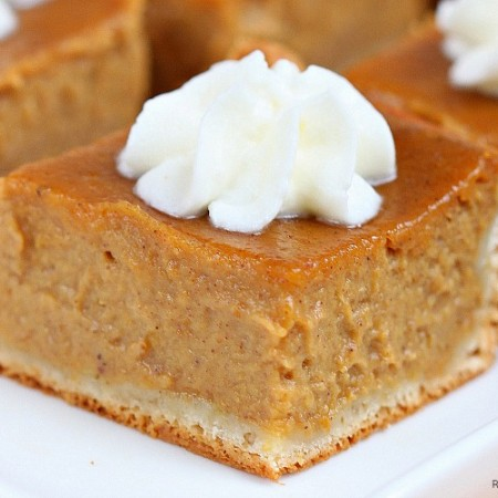 Pumpkin Pie Squares Recipe — Dishmaps