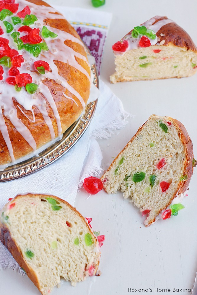 Julekage - Norwegian Christmas fruit bread