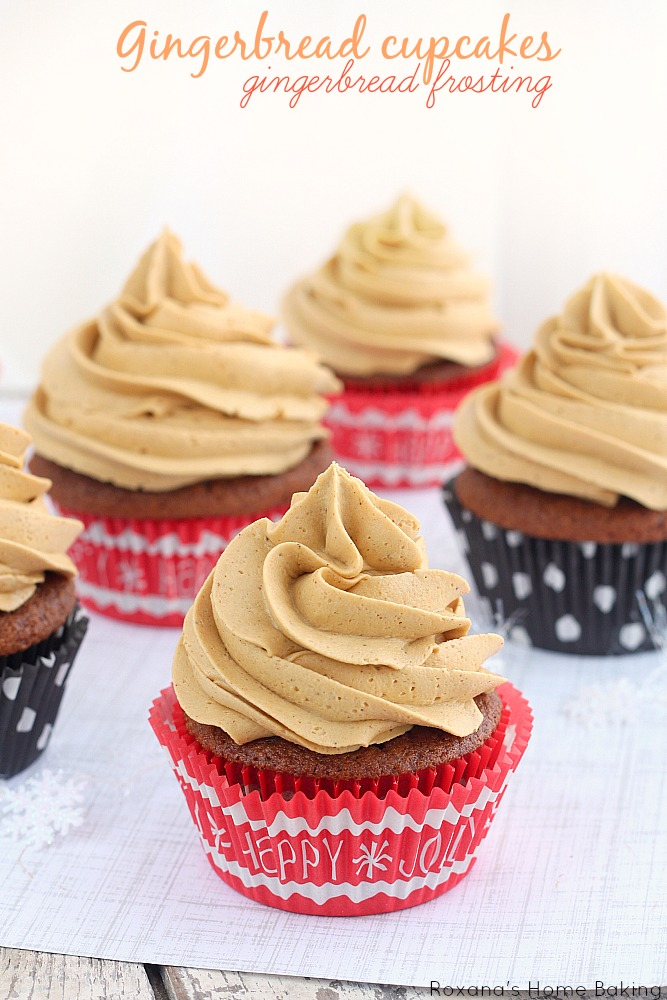 Gingerbread cupcakes with gingerbread frosting recipe from ...