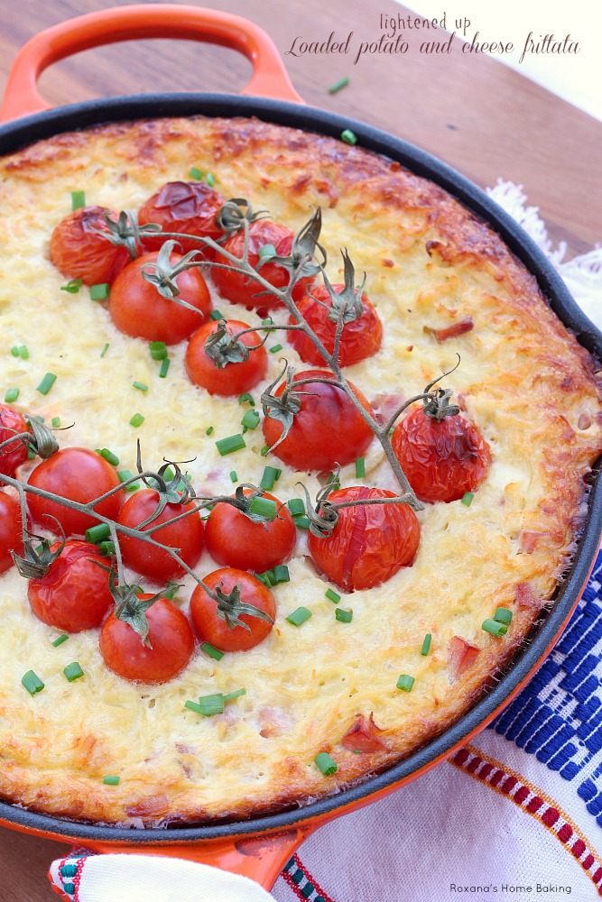 potato fixings in this quick and easy baked potato and cheese frittata ...