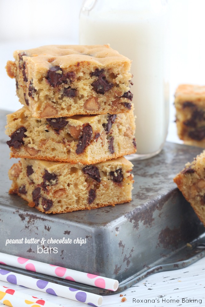 Peanut butter and chocolate chip bars recipe