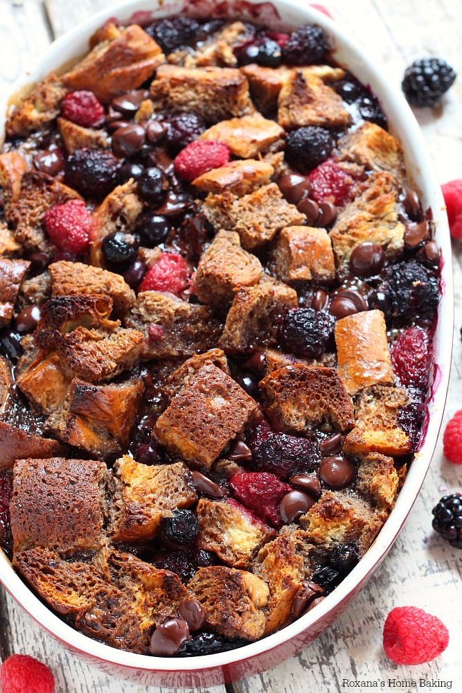 berry chocolate french toast casserole recipe 1