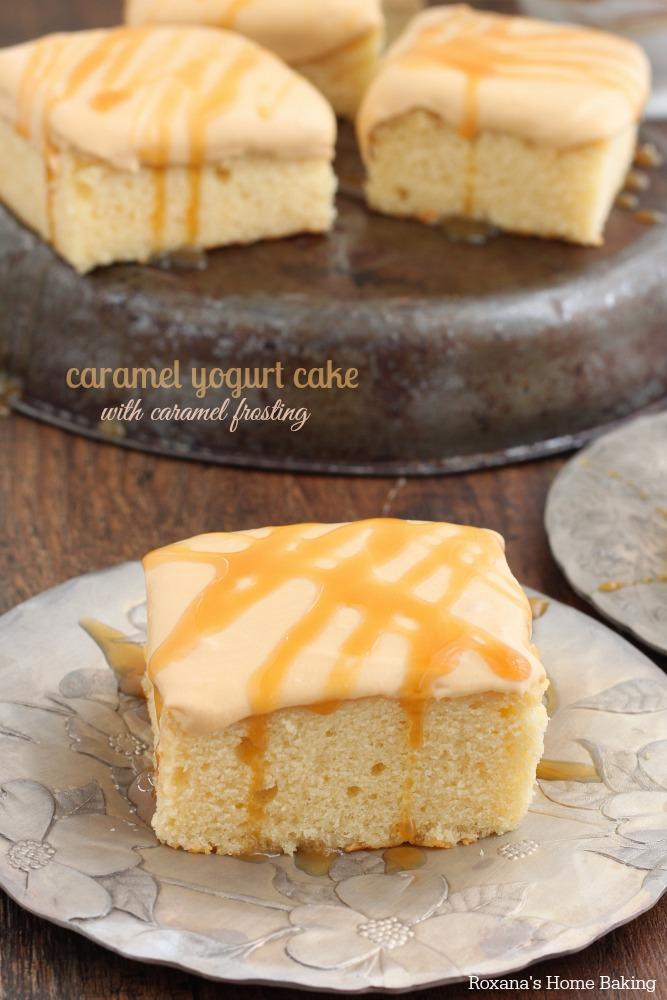 Caramel yogurt cake with caramel frosting recipe