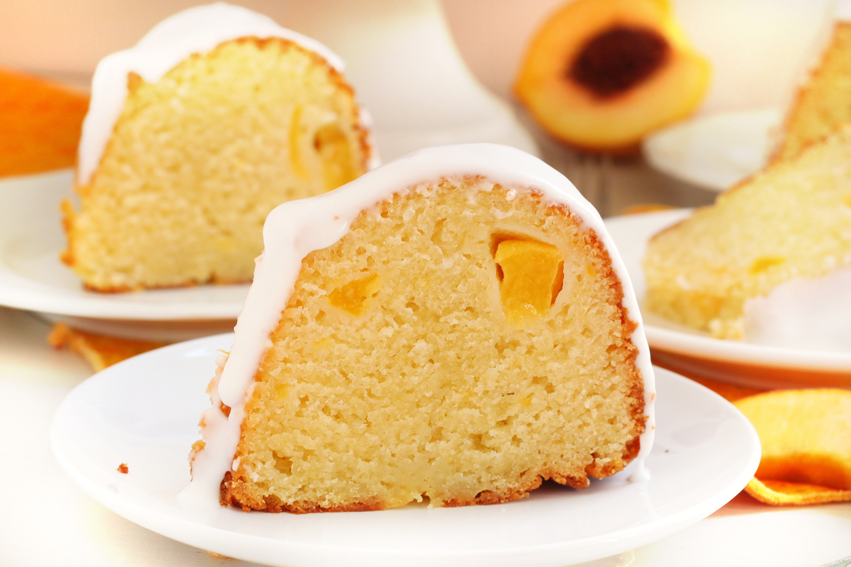 Peach pie cake recipe