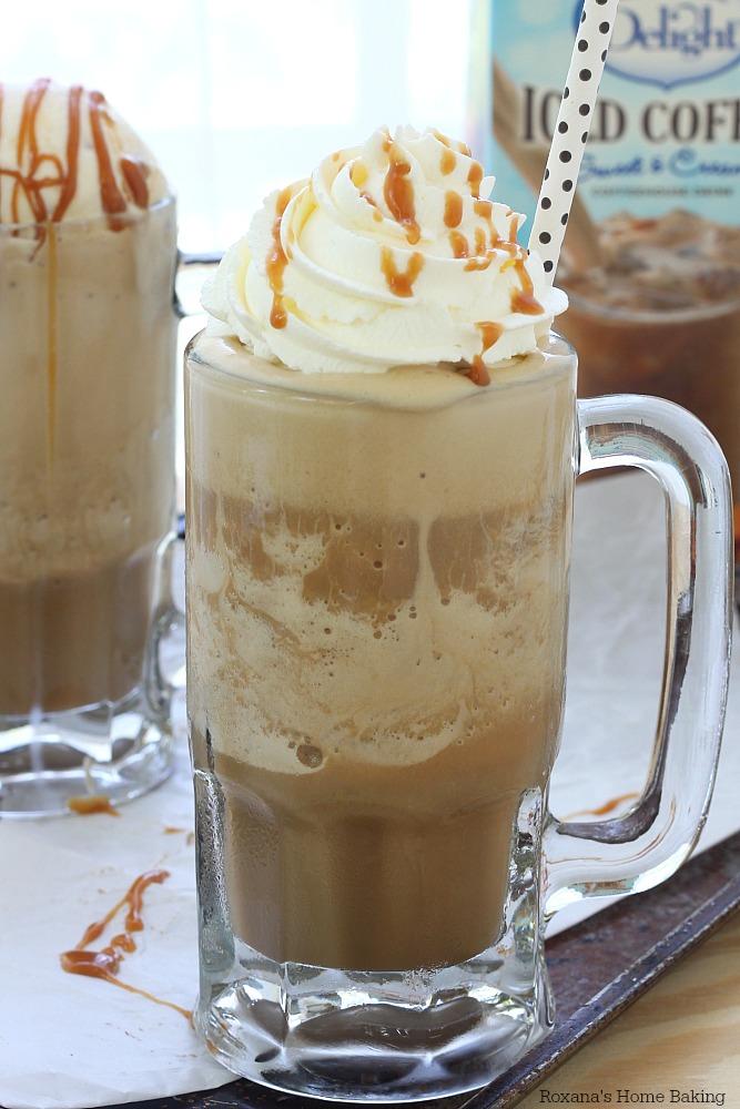 frozen caramel macchiato coffee