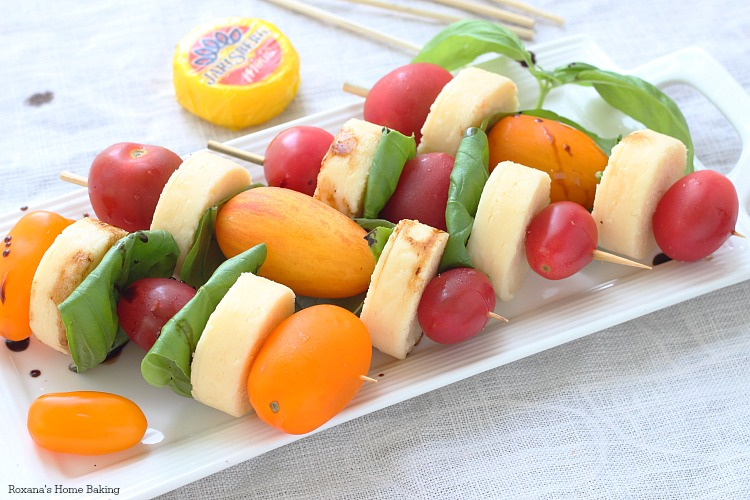 Caprese skewers - Roxana's Home Baking