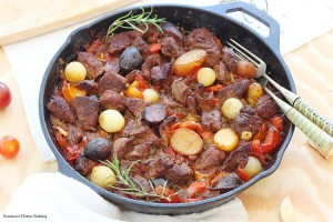 One pot beef vegetable skillet recipe and a CUTCO Cutlery Knife set giveaway
